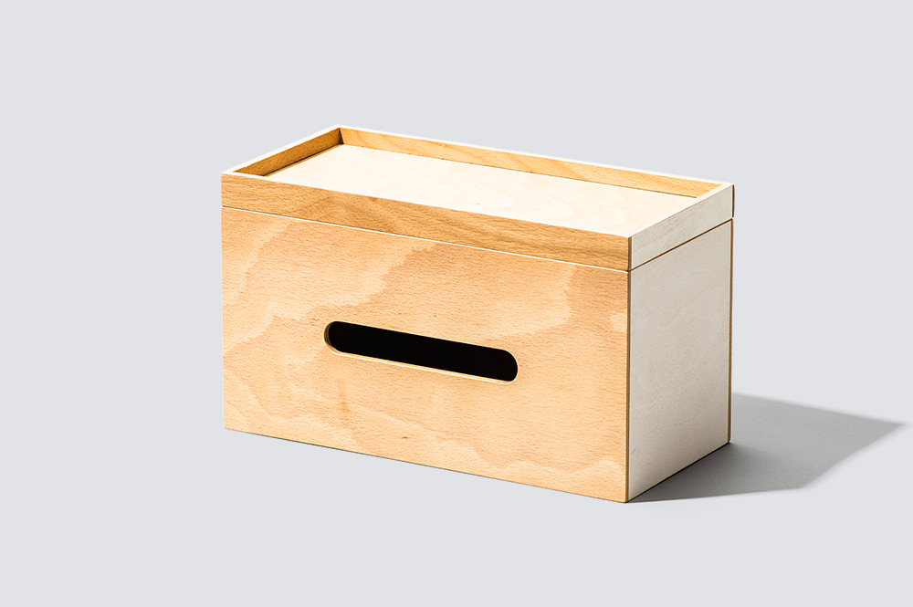 PLYWOOD Series / Roof Paper Box